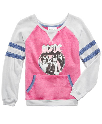 Awake ACDC Graphic-Print Sweatshirt, Big Girls