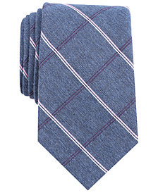 Nautica Men's Shoal Grid Slim Silk Tie