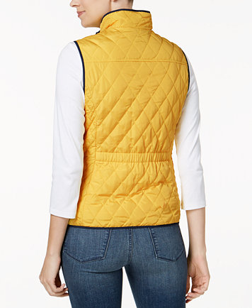 Charter Club Quilted Zip-Front Vest, Created for Macy's - Jackets ... : quilted zip front vest - Adamdwight.com