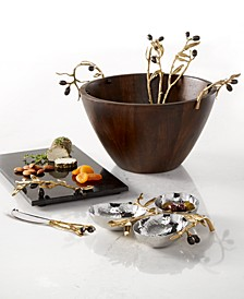 Olive Branch Gold Serveware Collection