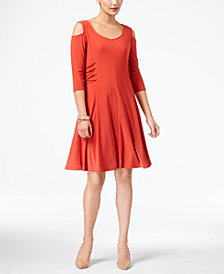 Love Scarlett Petite Laced-Sides Cold-Shoulder Dress, Created for Macy's