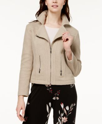 Textured Knit Moto Jacket, Created for Macy's