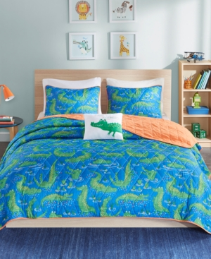 Mi Zone Kids Kyle the Crocodile 4Pc FullQueen Coverlet Set Bedding