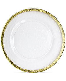 Jay Imports Hammered Ice Gold-Tone Band Charger Plate