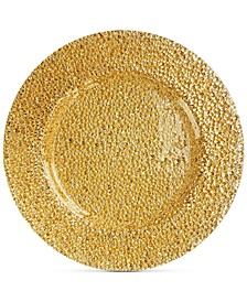 Jay Import Glamour Gold-Tone Glass Charger Plate