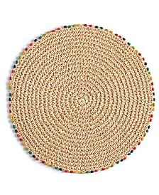 "Fiesta Cabo Beaded 15"" Round Placemat"