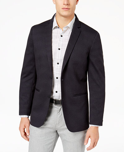 Alfani Men's Hatch-Print Knit Blazer, Created for Macy's