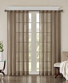 """Madison Park Harper 42"""" x 108"""" Solid Crushed Window Panel Pair"""