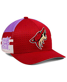 adidas Arizona Coyotes Hockey Fights Cancer Stretch Cap