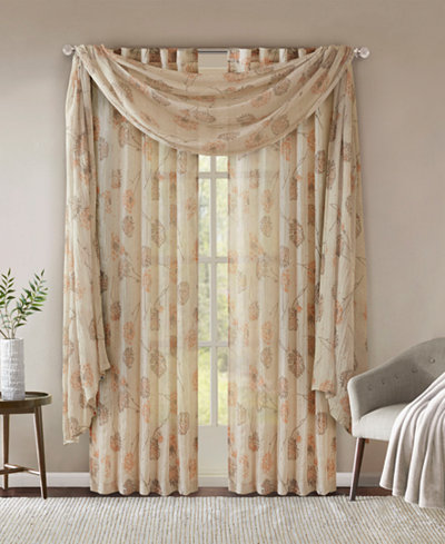 Madison Park Arella Floral-Print Crushed Window Treatment Collection