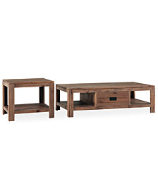 Champagne Tables, 2 Piece Set (Coffee Table and End Table)
