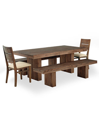 Set Dining Table 2 Side Chairs And 2 Benches Furniture Macy 39 S