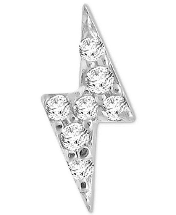 Macy's - Diamond Accent Lightening Single Stud Earring in 14k White Gold