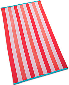 Martha Stewart Collection Cabana Cotton Stripe Beach Towel, Created for Macy's