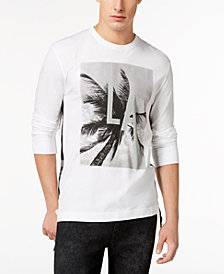 GUESS Men's LA Reflective Graphic-Print T-Shirt