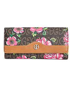 Giani Bernini Floral Block Signature Receipt Wallet, Created for Macy's