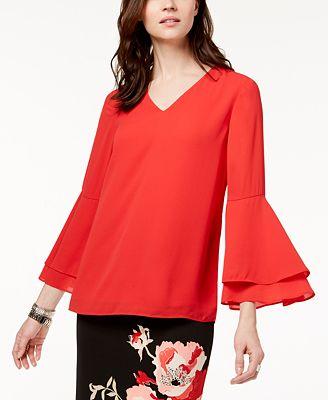 Alfani Bell Sleeve Blouse Created For Macy S Tops Women Macy S