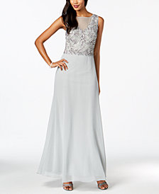 Adrianna Papell Embellished Chiffon Gown