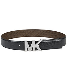 MICHAEL Michael Kors Reversible Signature Plaque Belt