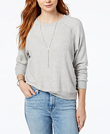 PROJECT SOCIAL T Saw You Standing Cozy Drop-Shoulder Top