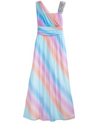 Girls Embellished Neck Dress