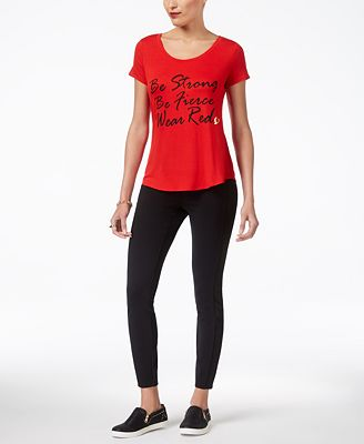 Thalia Sodi Graphic T-Shirt & Skinny Pants, Created for Macy's