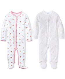 폴로 랄프로렌 여아용 커버올 우주복 Polo Ralph Lauren Baby Girls Printed Coveralls,Paisley Pink
