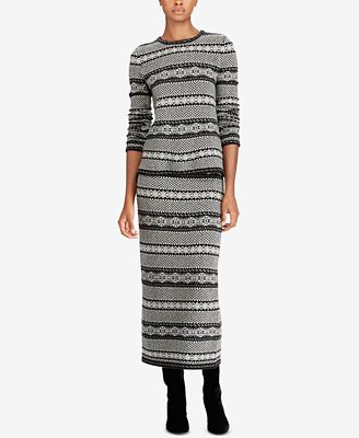 Lauren Ralph Lauren Petite Fair Isle Herringbone Sweater ...