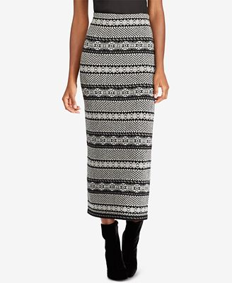 Lauren Ralph Lauren Petite Fair Isle Herringbone Skirt - Skirts ...