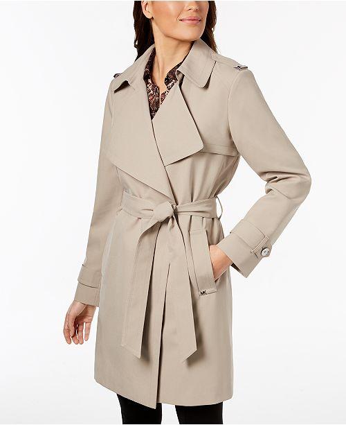 a7ad1038d16e 14 reviews. Michael Kors Belted Wrap Trench Coat  Michael Kors Belted Wrap  Trench Coat ...