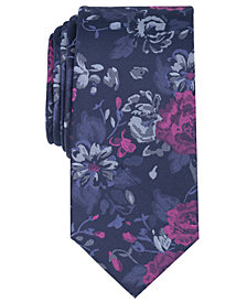 Bar III Men's Abernathy Floral Skinny Tie, Created for Macy's