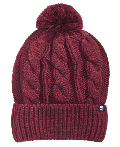 Block Hats Men's Knit Cuffed Pom Pom Beanie