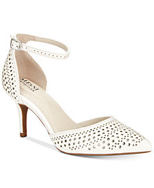 Alfani Women's Joyy Step 'N Flex Perforated d'Orsay Pumps, Created for Macy's