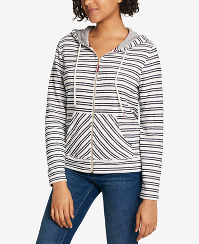 Tommy Hilfiger Striped Zip Hoodie, Created for Macy's