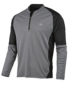 Greg Norman for Tasso Elba Men's Jacquard Quarter-Zip Sweater, Created for Macy's