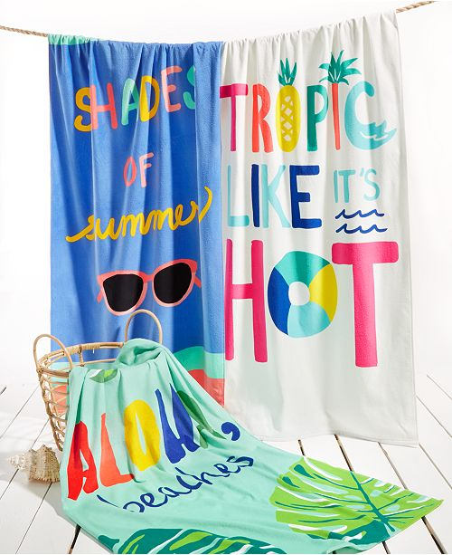 Martha Stewart Collection Words Beach Towels Collection