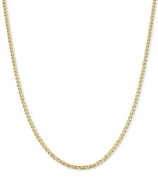 "22"" Nonna Link Chain Necklace (3-3/4mm) in 14k Gold"