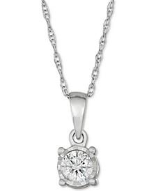 Diamond Drop Pendant (1/5 ct. t.w.) in 10k White Gold