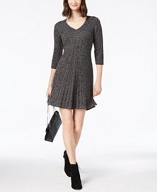 Petite V-Neck Cable-Knit Sweater Dress (Josie)