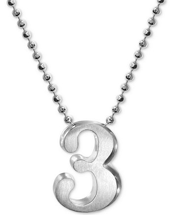 Alex woo number 3 pendant necklace in sterling silver necklaces image 1 of alex woo number 3 pendant necklace in sterling silver mozeypictures Image collections