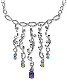 Carolyn Pollack Multi-Gemstone Statement Necklace (8-1/2 ct. t.w.) in Sterling Silver