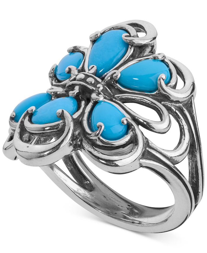 Carolyn Pollack - Turquoise Statement Ring (2-1/5 ct. t.w.) in Sterling Silver