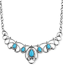 Turquoise Statement Necklace (2-1/6 ct. t.w.) in Sterling Silver