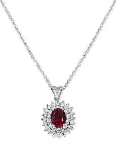 Ruby (1-1/5 ct. t.w.) & Diamond (1 ct. t.w.) Pendant 16