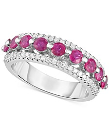Certified Ruby (1-1/3 ct. t.w.) & Diamond (1/3 ct. t.w.) Ring in Sterling Silver