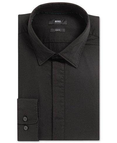 BOSS Men's Slim-Fit Stretch Cotton Sport Shirt