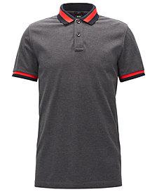 BOSS Men's Slim-Fit Contrast Cotton Polo