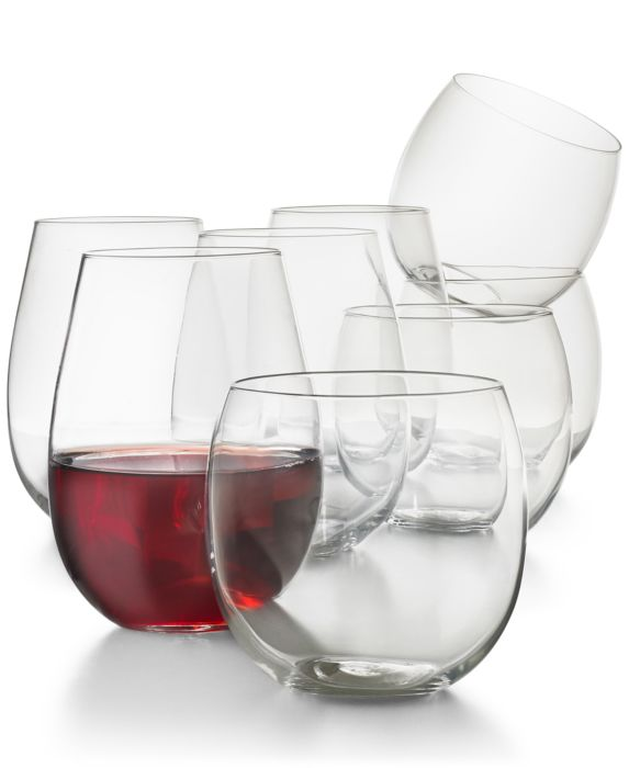 CLOSEOUT! Hotel Collection Stemless 8-Pc. Value Set