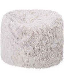 Lucee Faux Fur Bean Bag, Quick Ship