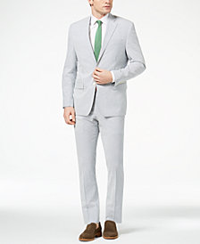 CLOSEOUT! Lauren Ralph Lauren Men's Classic-Fit Ultraflex Blue/White Seersucker Suit